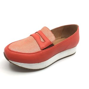 Pantofi casual din piele naturala - mostra corai