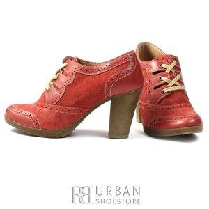 Pantofi casual din piele naturala si piele intoarsa - 484 pompei