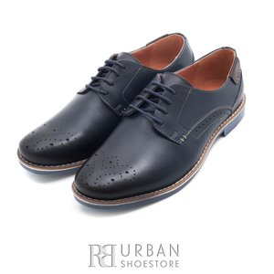Pantofi casual-eleganti din piele naturala - 843 blue