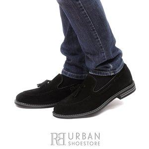 Pantofi casual - eleganti din piele naturala - 922 Negru Velur