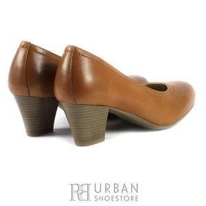 Pantofi casual-office din piele naturala - 422 cognac