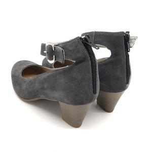 Pantofi casual-office din piele naturala- Mostra 422 Gri Velur