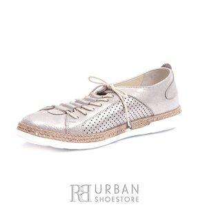 Pantofi casual - sport dama din piele naturala - 713 Taupe Box Sidefat