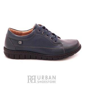 Pantofi casual/ sport dama din piele naturala, Leofex - 092 Blue box