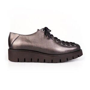 Pantofi cu siret pana in varf Leofex- 194 Antracit