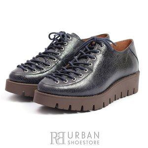 Pantofi cu siret pana in varf Leofex- 194 Blue Box Lucios