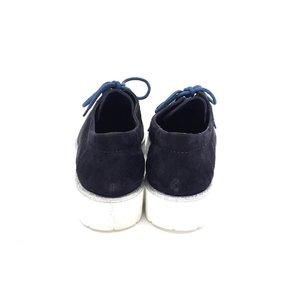 Pantofi cu siret pana in varf Leofex - 194 Blue Velur