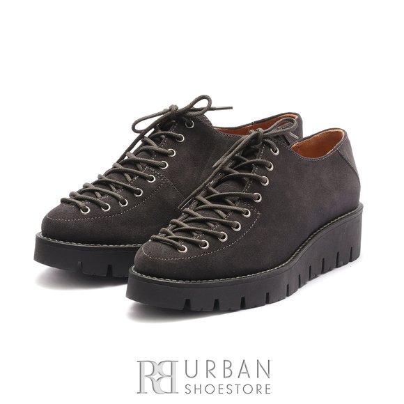 Pantofi cu siret pana in varf Leofex- 194 Gri Velur