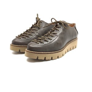 Pantofi casual dama cu siret pana in varf din piele naturala,Leofex- 194 Kaki