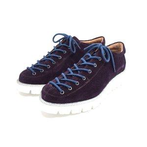 Pantofi cu siret pana in varf Leofex- 194 Mov Velur