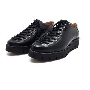 Pantofi cu siret pana in varf Leofex- 194 Negru presat