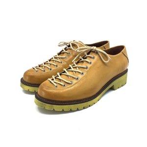 Pantofi cu siret pana in varf Leofex- 561 Galben