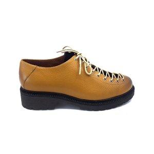 Pantofi cu siret pana in varf Leofex- 561 Mustar