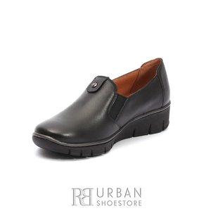 Pantofi dama casual din piele naturala - 106* Negru Box