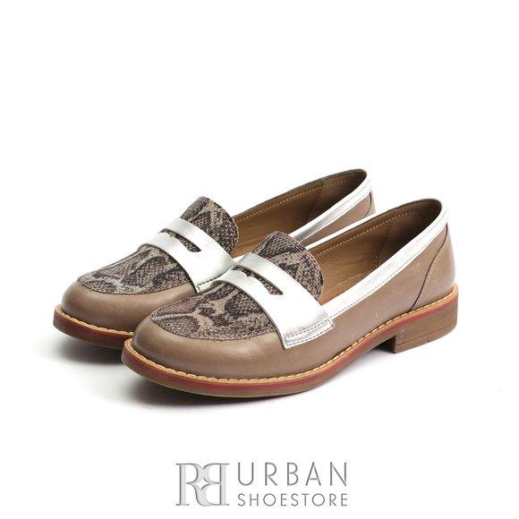 Pantofi dama casual din piele naturala - 188 Taupe Box
