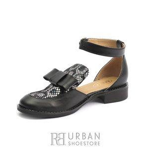 Pantofi dama casual din piele naturala - 1928 Negru Box