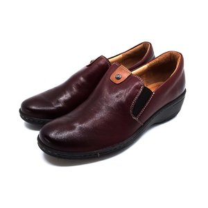 Pantofi dama casual din piele naturala Leofex - 098 Visiniu Box