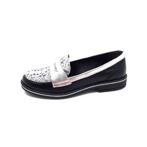 Pantofi dama casual din piele naturala Leofex- 188 Negru Box
