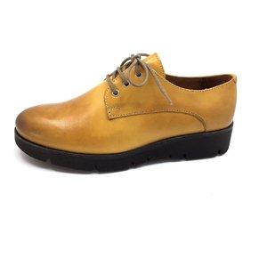 Pantofi dama casual din piele naturala Leofex- 200 Mustar Box