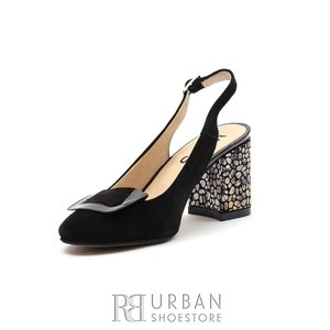 Pantofi dama eleganti din piele intoarsa - 791/1CN Negru Velur