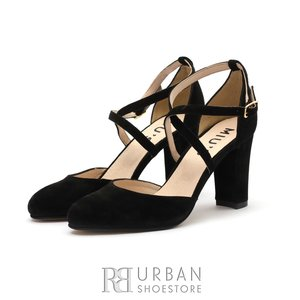Pantofi dama eleganti din piele intoarsa - 918/2 CN Negru Velur