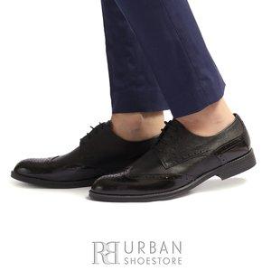 Pantofi de barbati eleganti din piele naturala Leofex - 516 Negru Box Florantic