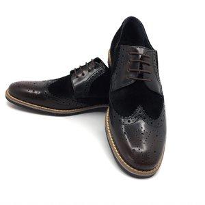 Pantofi de tip Derby din piele naturala - Mostra 804-2 Maro