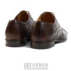 Pantofi Derby box - 113 maro