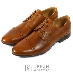 Pantofi Derby din piele naturala - 828 cognac