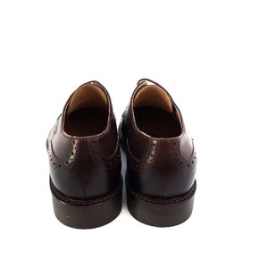 Pantofi Derby din piele naturala Leofex - 537-1  Maro inchis Box