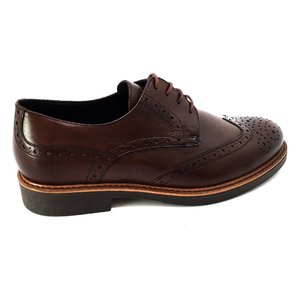 Pantofi Derby din piele naturala Leofex - 537-2 Maro Box