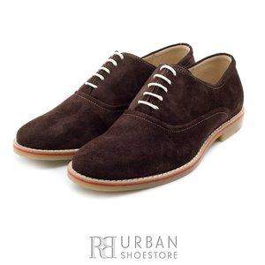Pantofi Oxford din velur - 688 maro