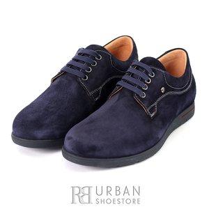 Pantofi casual barbati din piele naturala,Leofex - 837 blue velur