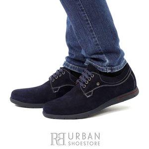 Pantofi Derby din velur - 837 blue