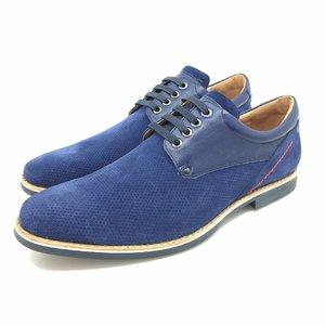 Pantofi Derby din velur - mostra blue
