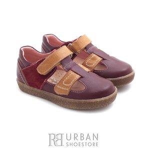 Pantofi din piele naturala – 120-1 bordo camel box