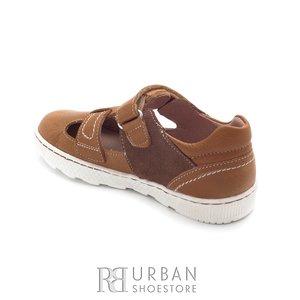 Pantofi din piele naturala – 120-3 camel velur box