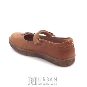 Pantofi din piele naturala – 129-f camel box