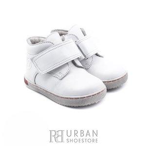 Pantofi din piele naturala box, pentru copii – 123 alb