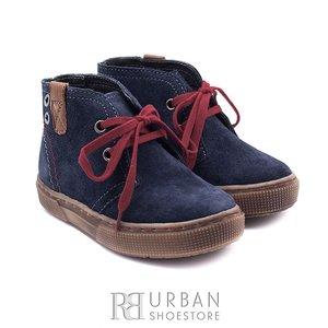 Pantofi din piele naturala intoarsa velur pentru copii – 107-c blue
