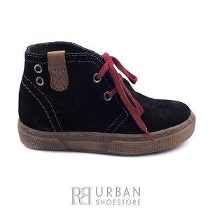 Pantofi din piele naturala intoarsa velur pentru copii – 107-c negru