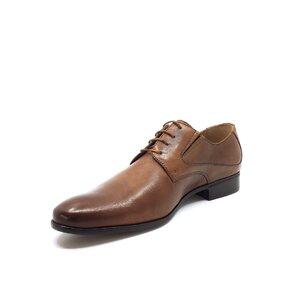Pantofi eleganti barbati Derby din piele naturala - 690 Camel