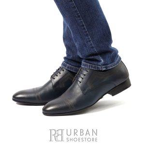 Pantofi eleganti barbati din piele naturala,Leofex - 896 Blue box
