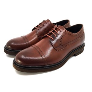 Pantofi eleganti barbati din piele naturala Leofex - 1000 Cognac Box