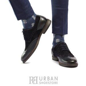 Pantofi eleganti barbati din piele naturala, Leofex- 514 Blue Box Velur