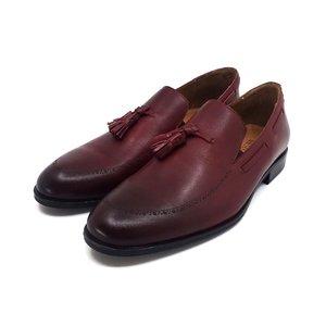 Pantofi eleganti barbati din piele naturala, Leofex - 515 Visiniu Box