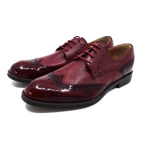 Pantofi eleganti barbati din piele naturala, Leofex - 516 Visiniu Box