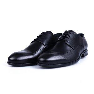 Pantofi eleganti barbati din piele naturala Leofex - 577 Negru Box