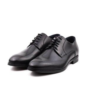 Pantofi eleganti barbati din piele naturala,Leofex-580 Negru Box