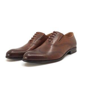 Pantofi eleganti barbati din piele naturala Leofex-581 Cognac Box